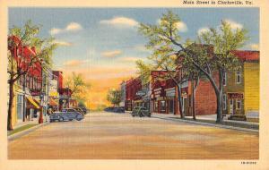 Clarksville Virginia Main Street Scene Historic Bldgs Antique Postcard K7876580