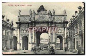Old Postcard Nancy Arc de Triomphe Street Here