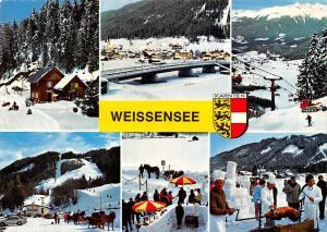 Weissensee Kaernten Winter Ski Horse Sledge Chairlift Pension Panorama