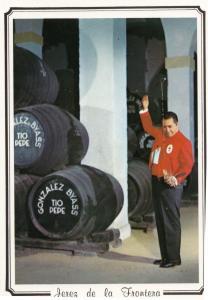 Jerez De La Frontera Wine Venenciador Waiter Barrell Portugal Postcard
