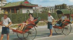 CE-237 China, Hong Kong, Rickshaws Pleasure Rides Chrome Postcard