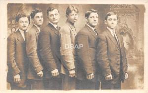 A65/ Martins Ferry Ohio Postcard Real Photo RPPC c1910 Boys Suits Well Dressed