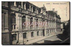 Old Postcard Caen University Library
