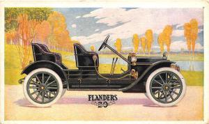 Flanders 20 Fore-Door Car Green Postcard