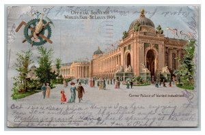 Postcard Silver Transparency Corner Palace Varied Industries 1904 St Louis Expo