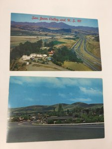 2 San Juan Capistrano California Postcards Street Scene & Aerial Birds Eye View