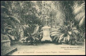 mauritius, PAMPLEMOUSSES, Tombeau Paul et Virginie 10s