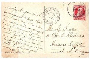 Maisons Laffitte Seine et oise 1912 postmark
