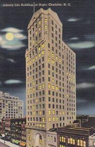 Liberty life building, at Night, Charlotte, North Carolina, 40-60s