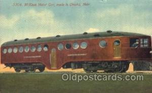 Mckeen Motor Train made in Omaha Nebraska, USA Trains Locomotive, Steam Engin...