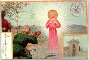Postally-Used ROME Italy Postcard Jesus Religious w/ 1902 Italian Cancel & Stamp