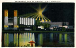 IL - Chicago. 1933 World's Fair-Century of Progress. Electrical Group by Illu...