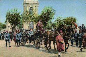 Sultan Mohamed V of Turkey returns to Selamlik by Coach (1910s) Postcard