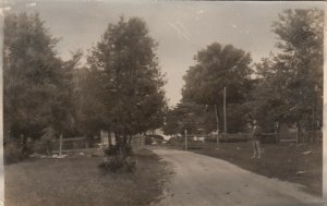 RP: ATHERLEY , Ontario , Canada , 1910-30s; Entrance to Orchard Point Inn