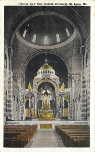 St Louis Missouri~New Catholic Cathedral Interior 1920s