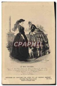 Old Postcard Paris Fashion Costume History of Costume Louis XVI to the Second...