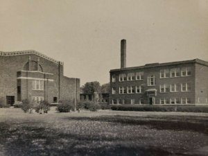 Spencer Indiana High School and Gymnasium Vintage Postcard unposted   548