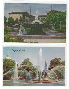 Philadelphia PA Water Fountains Swan Memorial Logan Circle Ericsson Art Museum