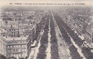 Avenue De La Grande Armee, Vue Prise De l'Arc De Triomphe, Paris, France, 190...
