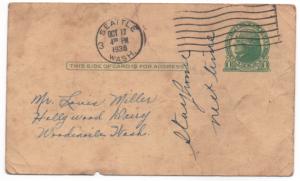 Penny Postcard UX27  1936 Jefferson.  Seattle, Washington