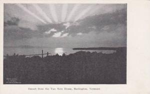 Vermont Burglington Sunset From The Van Ness House