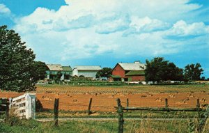 Postcard An Amish Farm Greetings From Amish Country Lovely