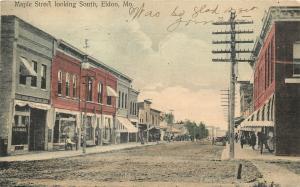 Eldon Missouri~ Handcolored~Hardware~Meats Market~Power Pole~Dirt Maple St 1908