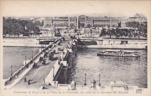 PARIS, France, 1900-1910´s; Panorama Du Pont Et De La Place De La Concorde, ...