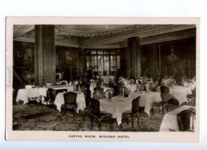 172007 UK Manchester Coffee Room Midland Hotel Old postcard