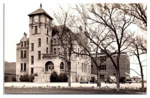 RPPC Old North Hall, South Dakota State College, Brookings, SD Postcard