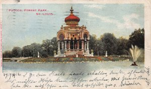 Pagoda, Forest Park, St. Louis, MO., 1898 Private Mailing Card, used in 1902