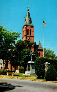 Massachusetts Amesbury Huntington Square With Josiah Bartlett Statue & St Jos...