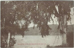 VTG postcard, Delaware River, Delaware Water Gap, Pa
