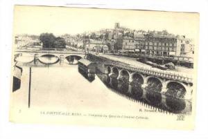 Vue Prise Du Quai De l'Amiral-Lalande, La Sarthe et Le Mans, France, 1900-1910s