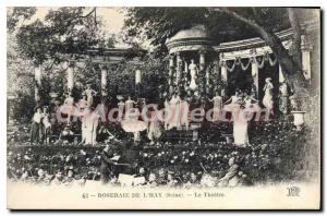 Old Postcard Rose Garden Of The Hay Theater