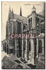Postcard Old Chartres Cathedrale