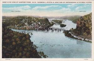 West Virginia Harpers Ferry Bird's Eye View Of Harpers Ferry Showing 3 States...
