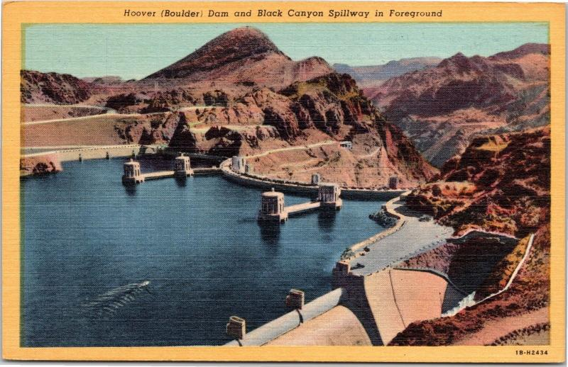 Hoover Dam and Black Canyon Spillway