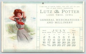 Lone Tree IA~Lutz & Potter Millinery: A Modern Mermaid~Artist Signed Arthur~1911