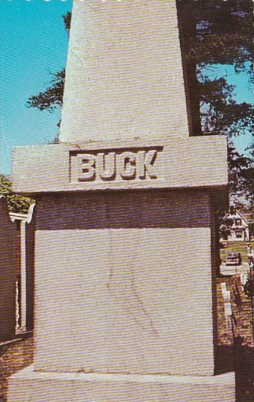 Maine Bucksport Colonel Jonathan Buck Monument