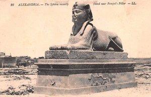 Sphinx recelty found near Pompei's Pillar Alexandria Egypt, Egypte, Africa Un...