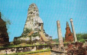 Wat Rajburana Ayudhya Middle Thailand Stunning Postcard
