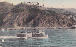 Glass Bottom Boat Over Submarine Gardens Avalon Oatalina Island California Ha...