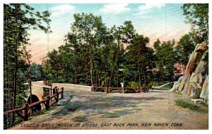 Connecticut New Haven , English Dr. North of Bridge , East Rock Park