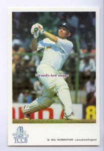 su3501 - International Cricketer - Neil Fairbrother, Lancs/England - postcard