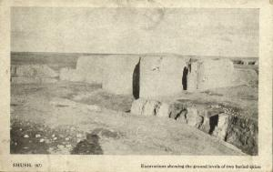 iran persia, SHUSH, Susa, Excavations showing Ground Levels of Cities (1910s)