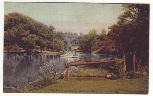 P389 JL 1908 postcard ferry on the conestoga river lancaster penn