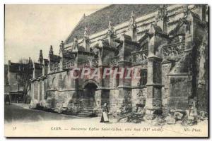 Old Postcard Caen Old Church of Saint Gilles