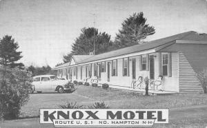 Hampton New Hampshire Knox Motel Street View Antique Postcard K93066