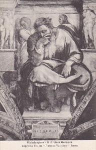 Michelangelo Il Profeta Geremia Cappella Sistina Palazzo Vaticano